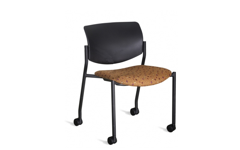 Shuttle Chair With Casters. 9 To 5 Stool