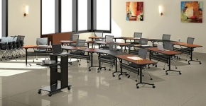 Talon Tilt Top Training Tables Mayline
