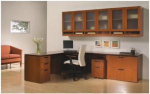 EL2 L-Desk, Overhead & Storage