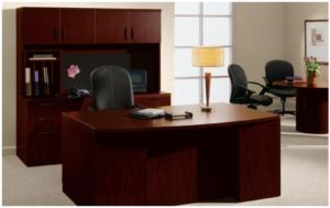 RE1 Desk, Credenza & Overhead
