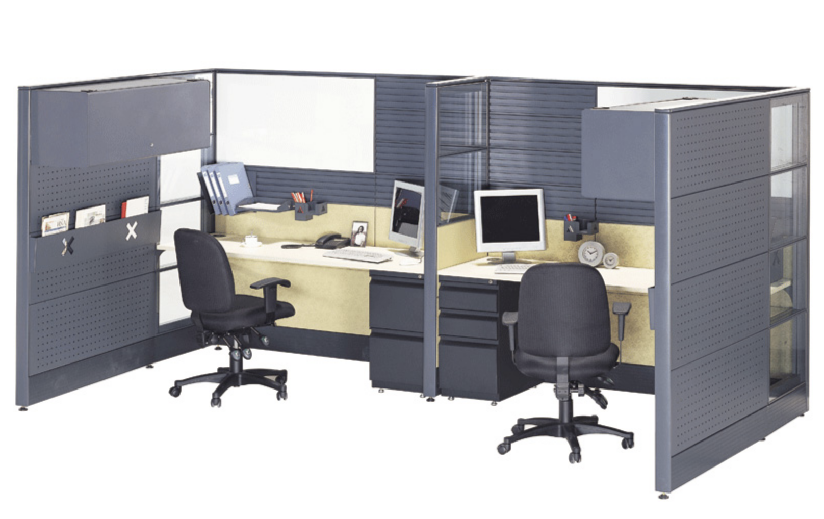 Tekna Workstation with Perforated Metal_1